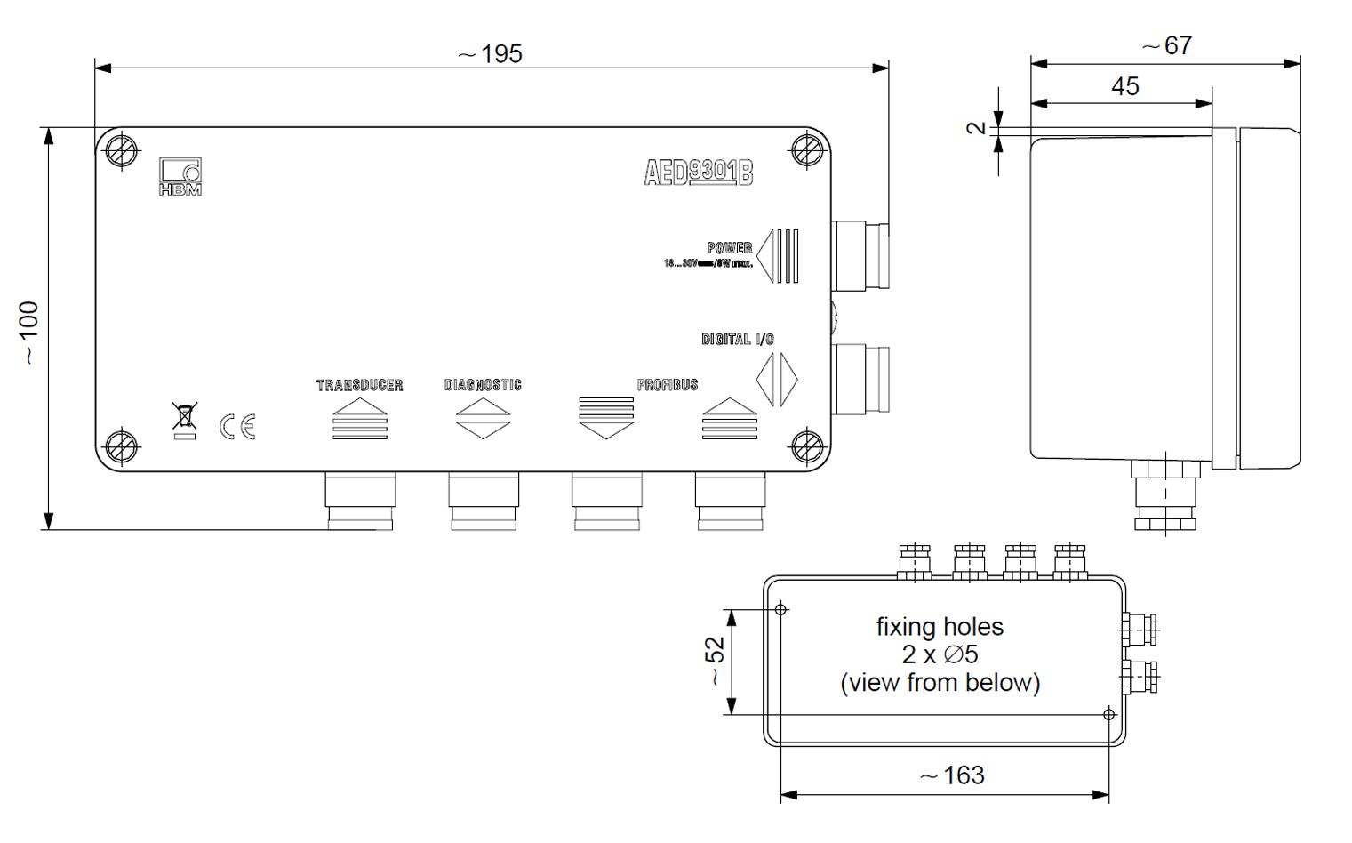AED9301A Digitalizador HBM