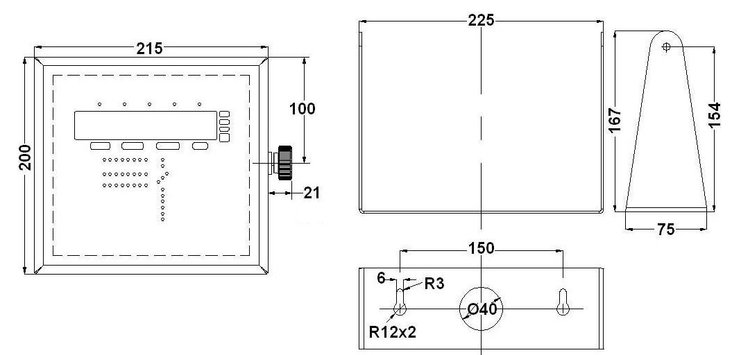 WT21-CSi dimensões em mm