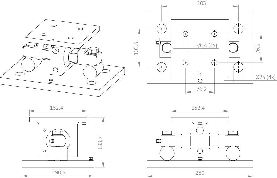SIP-5103 Suporte de pesagem Berman Load Cells