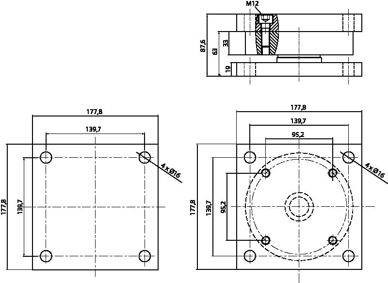 Suporte de pesagem Berman Load Cells SIP-BTWM/20klb