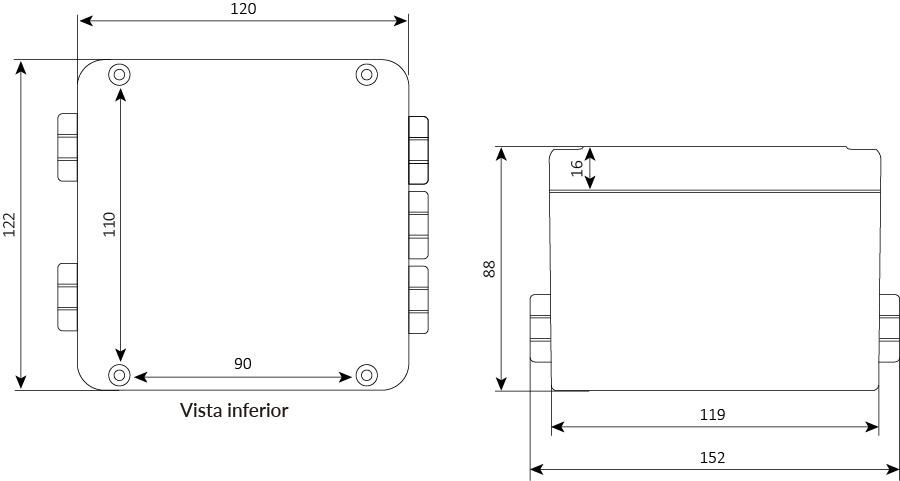 Transmissor de peso WT-BT-BR